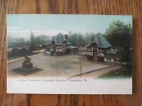 Vintage Postcard Entrance To Zoological Gardens Philadelphia Pennsylvania