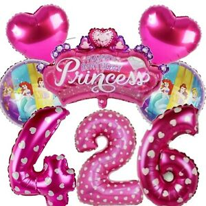 Princess Belle Cinderella Aurora Foil Large Birthday Balloon Number Age 1-9