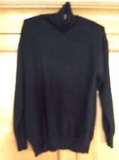 Cashmere Company Clásico Negro 100% cachemir Suéter Cuello Polo/puente (38/UK14)