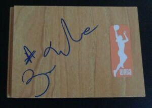 ERICA WHEELER Signed Floor Tile WNBA Basketball INDIANA FEVER All Star Game MVP