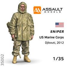 1/35 - USMC Sniper, Djibouti, 2012 - Resin Figure, Assault Models #35002