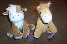 Precious Moments Tender Tails Cow & Horse Lot Bean Bag Plush Dolls Vintage 1998