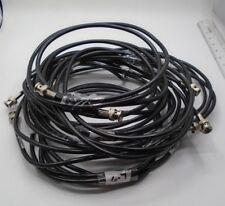 Belden Video Cable BNC Twist/screw-on Lot w 7 Shield 7 9' Length Coaxial *33 D