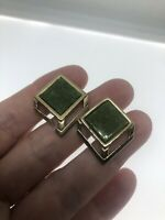vintage Green jade cufflinks