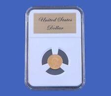 Elite Slab Coin Holder Gold Type II / III Dollar Etched Metal Label Little Bear
