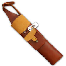 CAROL TRADITIONAL LEATHER BACK ARROW QUIVER AQ132 BROWN