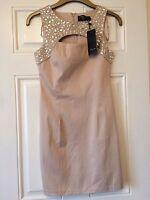 Ladies Beige Amber Krystal London Dress Size 10 **New with tags** B10