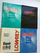 Lowery organ Music Songbook and magic organ course owners manual lot of 4 As Is