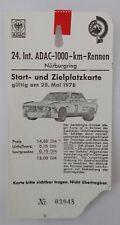 alte Eintrittskarte / Ticket ADAC-1000-km-Rennen 1978 BMW 3.0 CSL Alpina Nr.3948