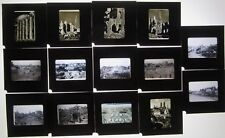 14 Vintage Photo Slides War Rubble World War 2 Battle Damage WW2 France Germany