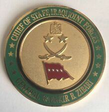 Chief of Staff, Iraqi Joint Forces General Babakir B Zibari Commander's Coin A28