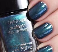 CoverGirl Outlast Stay Brilliant Nail Gloss Polish TEAL ON FIRE Blue Duochrome