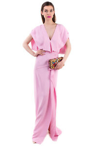 RRP€1195 ROLAND MOURET Evening Gown Size 10 / M LIMITED EDITION Draped High Slit