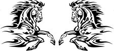 "X2 L+R LARGE 24"" horse tribal flames vinyl graphic van horsebox side stickers"