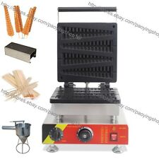 Commercial Nonstick Electric Long Belgian Waffle on A Stick Maker Baker Machine