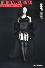 "1/6 Lace Lingerie Fur Robe Stockings Set For 12"" PHICEN Hot Toys Figure ☆USA☆"
