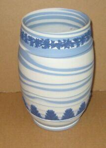 Wedgwood Jasperware Tri Coloured Marbled Large Vase