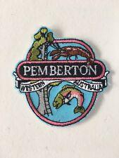 Vintage Pemberton Souvenir Patch Australian Western Australia Embroidered Retro
