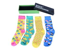 Unisex Bright Socks Sox Novelty Stance GREEN Funky Party Casual Formal Gift Box