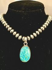 Handmade Turquoise, & Sterling Silver Pendant