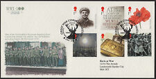 GB 2014 WWI official limited edition (of 100) 'Herts at War' FDC 28 July 2014