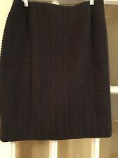AKRIS NWT Skirt Brown Size 14 Wool wave pattern RT 875.00