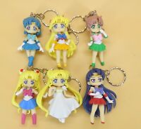 lot of 6 Sailor Moon Mars Jupiter Venus Mercury  keychain keyring Figure 6cm-7cm