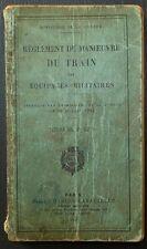 Règlement de manoeuvre du Train des Equipages Militaires / Titres 3,4,5 / 1913