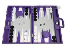 19-inch Premium Backgammon Set - Large Size - Purple Board, Backgammon Game