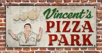VINCENT'S PIZZA PARK sign banner Legendary PITTSBURGH Shop bar restaurant