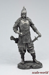Tin soldier, figure. Tatar noble warrior, 14th century 75 mm