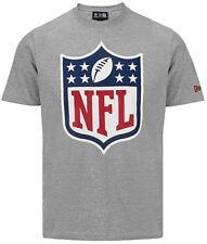 NEW ERA CAP NFL LOGO T-SHIRT GRAU AMERICAN FOOTBALL TOP + NEU