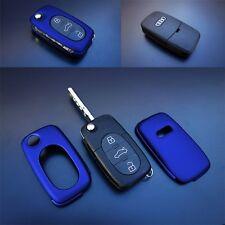 Für Audi Klapp Schlüssel Cover Key Cover Schlüssel Funk Fernbedienung Met Blau-