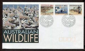 AUSTRALIA 1994, WILDLIFE: BIRDS, CROCODILE, Scott 1271, 1283A, 1287, on  F.D.C