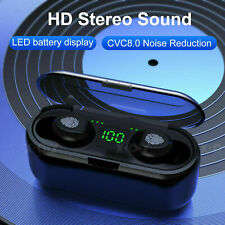 New listing 5.0 Bluetooth Wireless Earbuds Headphone Headset Noise Cancelling Tws Waterproof