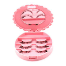 Empty False Eyelash Care Storage Case Box Container Holder Organizer w/ Mirror