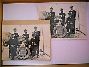 WW2 / Yangtse Incident H.M.S. Black Swan Collectable Officer Ships Mascot Photos