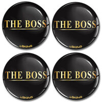 50mm The Boss Gold Silikon 3D Aufkleber für Nabendeckel Felgendeckel Nabenkappen