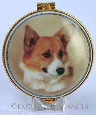 More details for alastor enamels corgi dog round hinged china trinket box