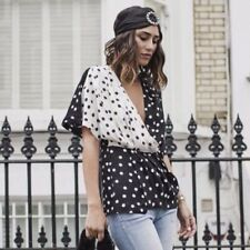 Zara STUDIO Combined Polka Dot Shirt Size MEDIUM BNWT