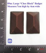 "89M ""2 Angular badges""  clock case / furniture DIY"