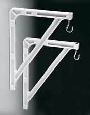 Da-Lite 40957 - #11 Wall Hanging Brackets - Pair - White - Authorized Dealer