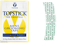 Vapon Topstick Mens Grooming tape Custom Cut A Curve, 50 clear strips