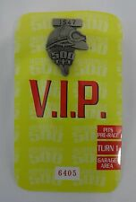 1999 Indianapolis 500 Silver Pit Badge VIP Back-Up Card Credential A.J. Foyt