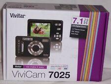 Vivitar ViviCam 7025 Black Digital Camera 7.1 MP 4X Digital Zoom GREAT GIFT