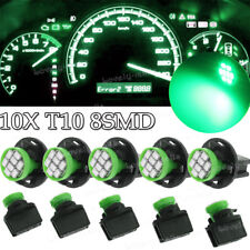 10x Green T10 168 8SMD LED Instrument Panel Dashboard Lights + Holder for Toyota