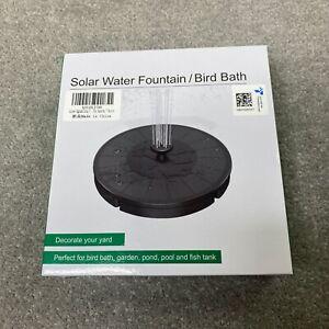 Solar Powered Water Fountain For Bird Bath Brand New