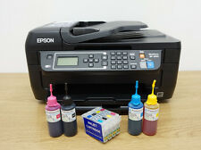 Epson WORKFORCE WF2650DWF INKJET Printer with Refillable Cartridge Kits Bundle
