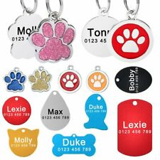 Personalized Dog Tags Free Engraved Dogs Cat Puppy Pet ID Name Stainless Steel