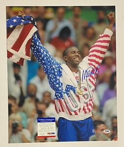 Magic Johnson Signed 16x20 Photo Olympics Autographed AUTO PSA/DNA COA Lakers